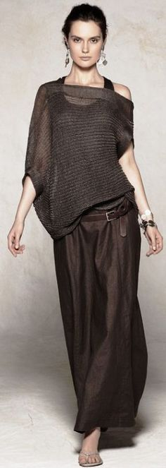 Brown lite wrap and palazzo pants. Summer dress up