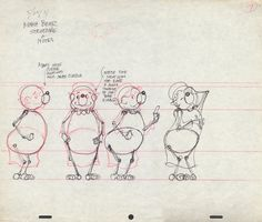 Model sheets and production art for The Berenstain Bears television specials that aired in the 1970s and 1980s.