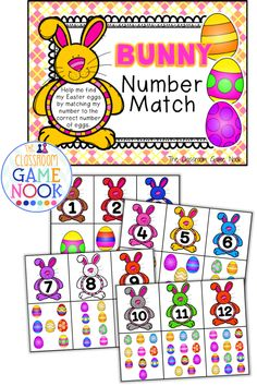 Classroom Freebies: Number Identification Game {Easter Theme}