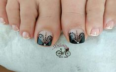 Cute Pedicure Designs, Diy Nail Designs, Cute Pedicures, Manicure And Pedicure, Pretty Toe Nails, Love Nails, Toe Nail Art, Easy Nail Art, Fabulous Nails