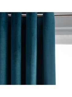 John Lewis & Partners Lustre Velvet Pair Lined Eyelet Curtains, Teal Lounge Curtains, Teal Curtains, Dining Room Curtains, Types Of Curtains, Sheer Drapes, Panel Curtains, Curtains Living, John Lewis Curtains, Grey
