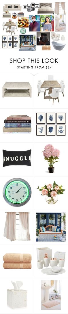 """""""Our New House"""" by brenndasouza ❤ liked on Polyvore featuring Bernhardt, National Tree Company, Linum Home Textiles, Home Decorators Collection, Hotel Collection and Urban Outfitters"""