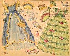 The Little Fairy (Fairy Princess) Paper Dolls, 1951 Merrill #1547  (5 of 10)