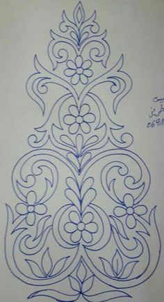 Ornament Drawing, Knitting Paterns, Pencil Design, Embroidery Motifs, Embroidery Designs, Craft Work, Mandala Art, Art Sketches, Metal Art