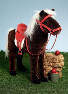 """Plush horse toy sewing pattern from Vogue Patterns. For 18"""" dolls. V9194 
