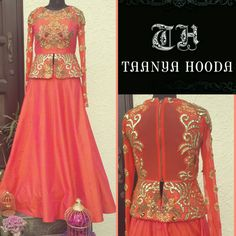 Peplum skirt by Taanya Hooda pret couture