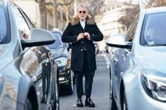 Tommy Ton Shoots the Best Street Style at the Couture and Menswear Shows Fashion Moda, Mens Fashion, Fashion 2015, Paris Fashion, Cool Street Fashion, Street Style, Most Stylish Men, Stylish Man, Nick Wooster