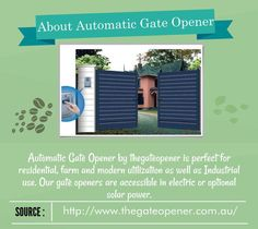 Visit our website to get more details about #AutomaticGateOpener