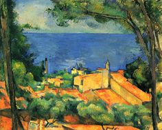 Paul Cezanne L'ESTAQUE WITH RED ROOFS 1883-85, o/c, 65 x 81 cm, Private Collection  POST IMPRESSIONISM