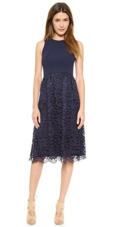 Shoshanna Lace Harlow Midi Dress | SHOPBOP