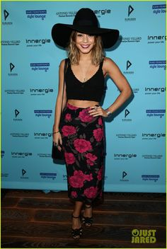 Vanessa Hudgens Swings By Kari Feinstein's Style Lounge Ahead of Emmys 2014 | vanessa hudgens floppy hat kari emmy lounge 08 - Photo