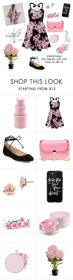 """Spring Florals"" by fangirlral ❤ liked on Polyvore featuring Design Ideas, Dorothy Perkins, Karl Lagerfeld, Valentino, 1928, Casetify, Lancôme, Bellagio and National Tree Company"