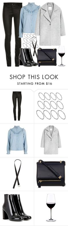 """""""Untitled #6044"""" by rachellouisewilliamson ❤ liked on Polyvore featuring ElleSD, ASOS, Topshop, MANGO, H&M, Givenchy, Yves Saint Laurent and Riedel"""