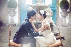 Korean Studio Pre-Wedding Photography: 2016 Romantic Vintage Collection  by Bong Studio on OneThreeOneFour 14