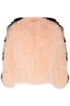 Fendi Two-tone shearling jacket | NET-A-PORTER