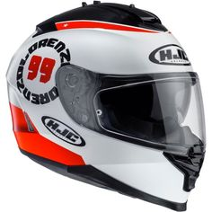 HJC IS-17 Lorenzo Angel MC-1 Helmet. Shell made of polycarbonate, of great lightness, fit and comfort using advanced CAD technology. Aerodynamic shell with large screen for better visibility. One-Touc...