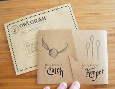 Harry Potter Wedding Shower Invitations - DolledUpDesign