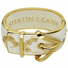 I know I get obsessive about certain designers, and Shaun Leane is one of them. I've tried this bracelet and it is so beautiful. I keep visiting it in a local store to lust and admire (they're very understanding about this). Gold Cherry Blossom Cuff, Ivory Enamel | Shaun Leane