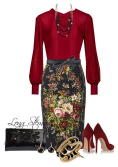 A fashion look from March 2015 featuring Stills blouses, Dolce&Gabbana skirts и Gianvito Rossi pumps. Browse and shop related looks. Classy Outfits, Chic Outfits, Fashion Outfits, Womens Fashion, Fashion Trends, Skirt Fashion, Asos Fashion, Travel Outfits, Fashion Bloggers