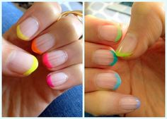 Neons + Nail Art = Neon French Manicure | The Beauty Bean - Beauty | Fitness | Fashion | Nutrition | Healthy Recipes | Real Beauty | Makeup ...