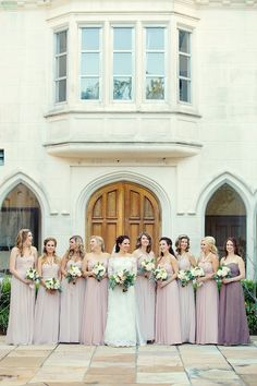 dusty rose bridesmaids | Mark Eric Photography | Glamour & Grace: