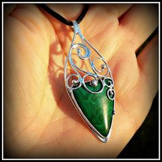 Malachite pendant / SOLD /
