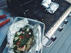 Grilled Fish Packets with Sun Dried Tomatoes & Spinach (Whole30) — Food & DIY Blog | Maria Makes