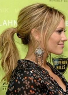 Textured Ponytail Hairstyle