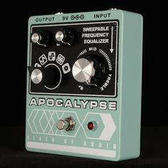 Death By Audio - Apocalypse distortion/fuzz.  I love the aesthetics of all the Death By Audio pedals.  If I ever got one, it would be the Apocalypse because it seems to cover every fuzzy distortion need I could think of.