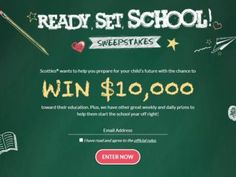 "Scotties ""Ready Set School"" Sweepstakes"