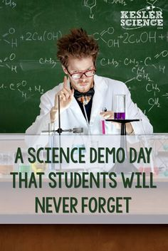A Science Demo Day That Students Will Never Forget 9 Science Demos For an Awesome Demo Day in Your Science Class High School Chemistry, Teaching Chemistry, Science Chemistry, Science Student, Middle School Science, Physical Science, Science Classroom, Science Lessons, Science Education