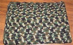 Patrón camuflaje Ripple afgano de Ben por crochetcabana en Etsy