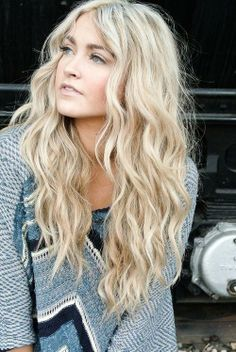 Long blonde hair. #Hair #Beauty #Hairstyle #Style Find hair products & more at Beauty.com