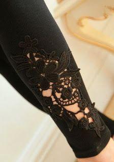 DIY: una idea para personalizar un pantalón vaquero con encaje o ganchillo (crochet)
