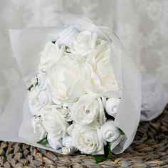 Baby Clothes Bouquet in Classic White-