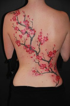 Fix my current one Blossom Tree Tattoo, Tree Tattoo Back, Full Back Tattoos, Back Tattoo Women, Tattoos For Women, Cherry Blossom Tattoos, Cherry Blossoms, Sexy Tattoos, Body Art Tattoos