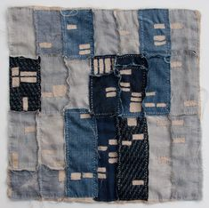 """By Kathryn Clark Are you seeing blue patchwork everywhere these days? It all goes back to the Japanese. Boro, meaning """"rags"""" in Japanese, are patched and mended farmer textiles found throughout rural Japan. Many of these textiles were made with … Continue reading →"""