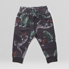 Small Teeth Godzilla Pants by Munster Kids are super cute, comfy pants that make a giant dinosaur statement!
