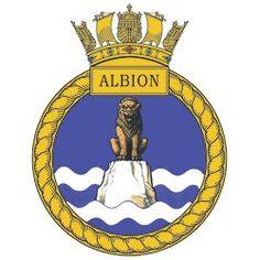 HMS Albion (L-14) badge