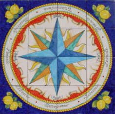 Wind Rose, Nautical Design, Compass Rose, Celtic Designs, Sicilian, Design Elements, Painting, Inspiration, Ideas