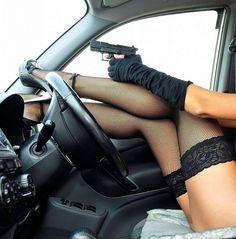 I like a women who is not afraid of guns....