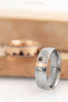 Jewelry Pot Titanium Criss-Cross Design 6mm Satin Polished Engravable Band