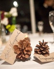 Place cards and also cute to put on buffet with the name of each food being served.