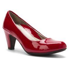 Aetrex Women's EssenceTM Jessie Classic,Red Patent Leathe...