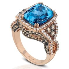 Santa Maria Aquamarine® & Diamond Ring - Le Vian Couture® - Product Search - JCK Marketplace