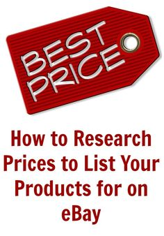 How to Research Prices to List Your Products for on eBay #ebay