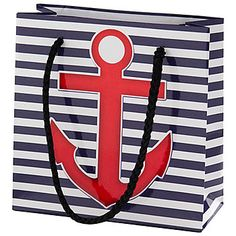 """Small Nautical Tote Bag  $0.99  5""""x5""""x2""""  www.shindigz.com -- cute for little DG gifts!"""