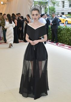 Lilly Collins in Givenchy