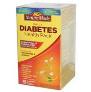 Nature Made Diabetes Health Pack, 60 Packets. If you have diabetes or prediabetes and are not always eating a balanced diet, Nature Made Diabetes Health Pack helps provide the nutrients that you may be lacking in. The Nature Made Diabetes Health Pack is scientifically formulated to supply nutritional support for people with diabetes, and provides nutrients that may be helpful due to the strain diabetes can put on the body's health.
