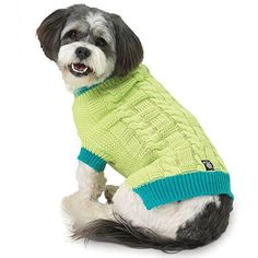 Petrageous Designs CodyS Chunky Cable Sweater  LimeTeal  Medium *** Check out this great product.